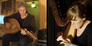 """Inspelen """"HAVVA"""" - harp en ud + sounddesign"""